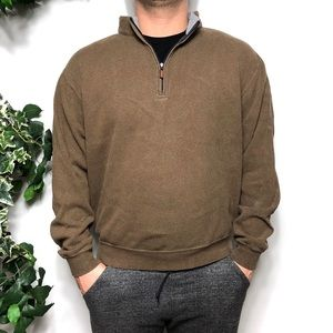 Peter Millar Brown Cotton Pullover Sweater Size M